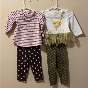 READ ALL Girls 9 month outfits bundle of 4 pieces